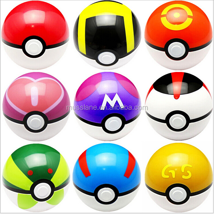 Large In Stock Fast Delivery Original Factory Cheapest Price Colourful 7cm pokemon balls pokeball toys