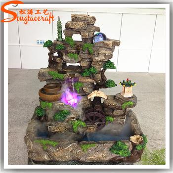 Al por mayor fuentes paisaje decorativo cascadas y fuentes for Diseno de fuente de jardin al aire libre