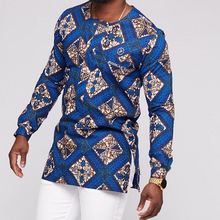 2019 africaine homme chemise homme chemises 100% <span class=keywords><strong>coton</strong></span> africain cire imprime tissu