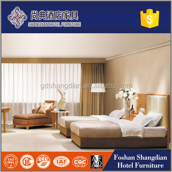Budget hotel bedroom furniture/1.2m twin bed room JD-KF-085A