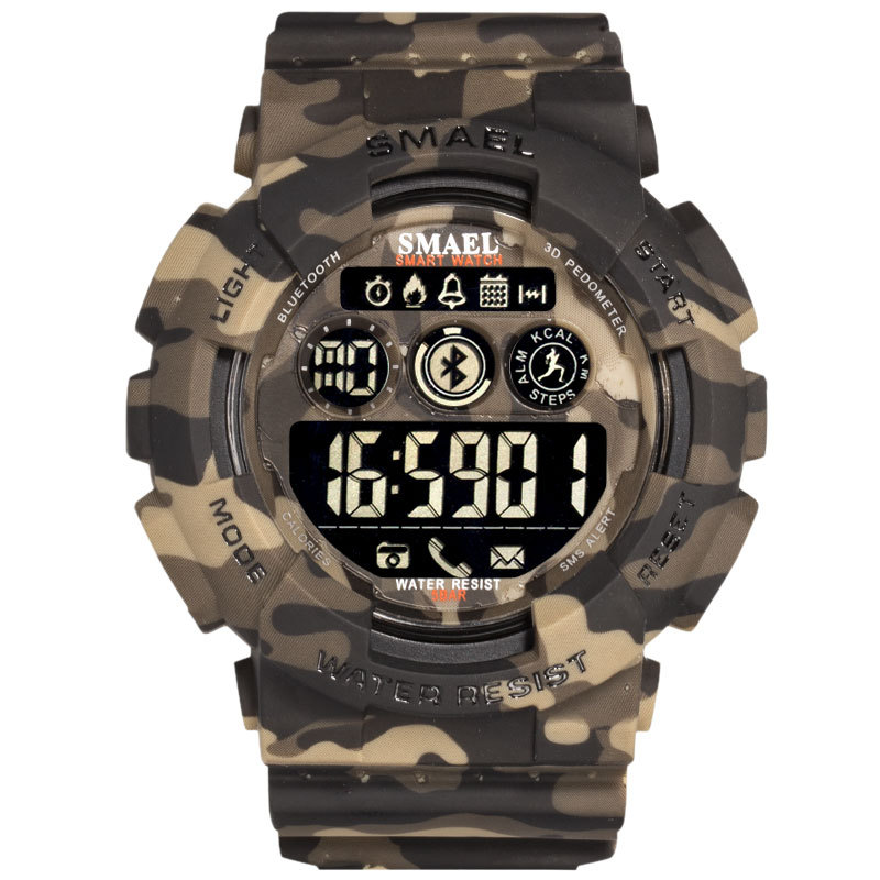 SMAEL Android Ios Bluetooth Smart Watch Men Waterproof Sport Wrist 8013 Military Relogio Masculino LED Smart Digital Watches фото
