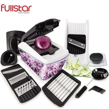 Fullstar <span class=keywords><strong>Multifunctionele</strong></span> functie 8 in 1 Groente cutter Slicer Ui Chopper spiralizer