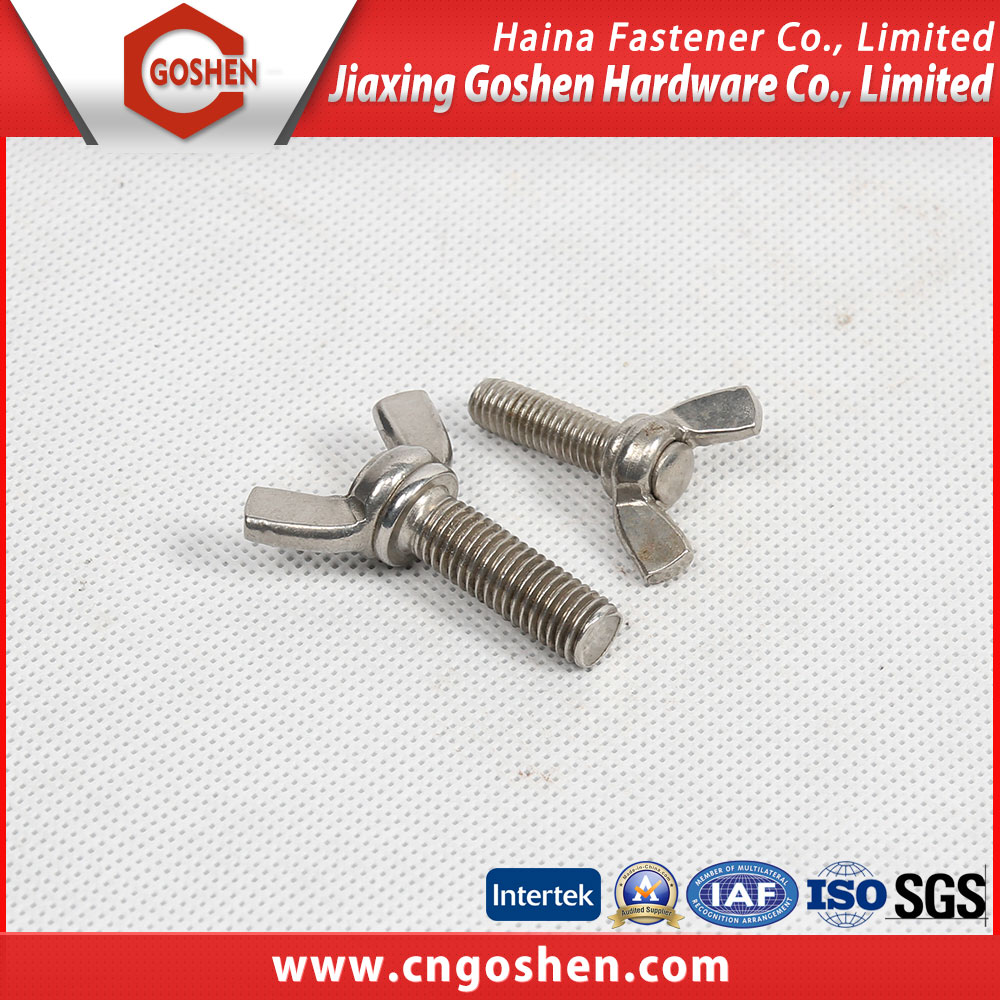 Alibaba China supplier passivate/plain wing bolt