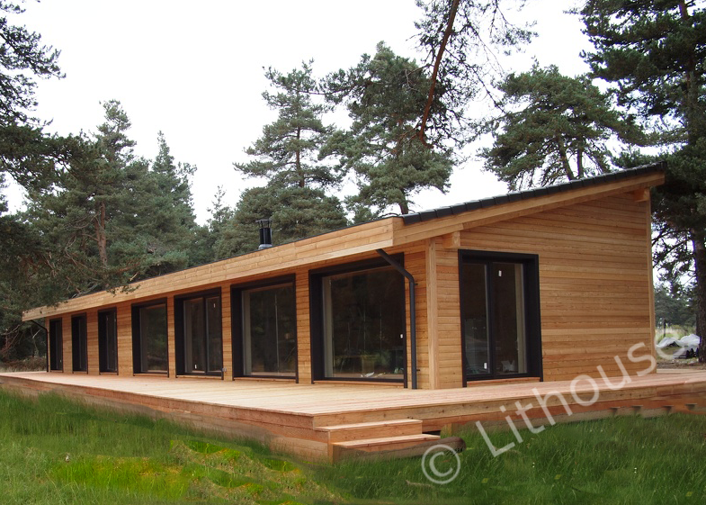 Moderne houten huis prefab huizen product id 50005436347 for Hout huis