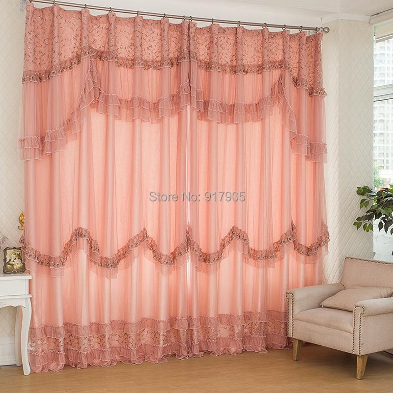 elegantes wohnzimmer vorhang romantische rosa spitze schlafzimmer gardinen ma geschneiderte. Black Bedroom Furniture Sets. Home Design Ideas