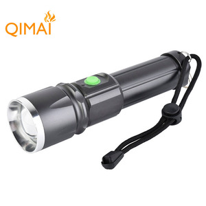 Portable Emergency Waterproof LED Torch Light 1000 Lumens T6 Aluminum Zoom 10W LED Police Tactical Flashlight