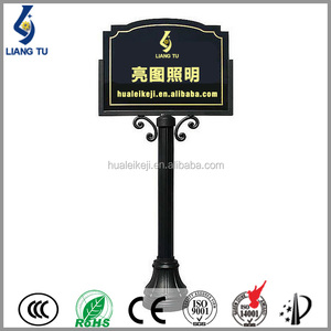 Q235 Steel Material Sign Pole Road Signboard With Pole