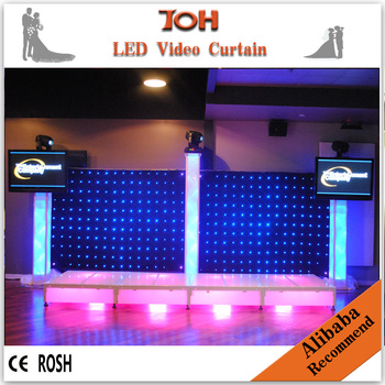P10 Concert Backdrops Stage Fashion Foldable Led Video Cloth/led Fabric  Vision Curtains