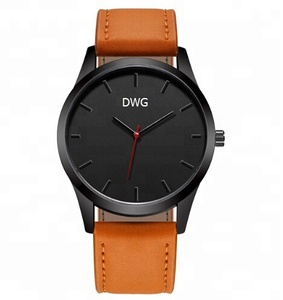 Manufacture Your Own Design Genuine Leather OEM Men Watches Ultra-thin Custom Logo with Imported Movement