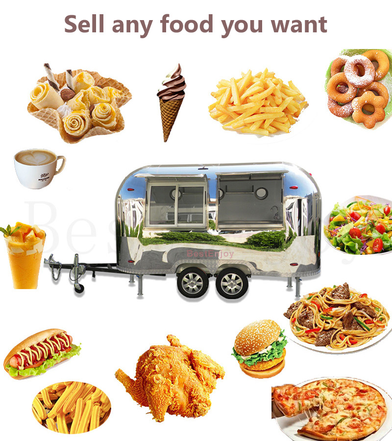 Brand New Ice Cream Double Axle Mobile Pizza Fast Catering Food Truck Body