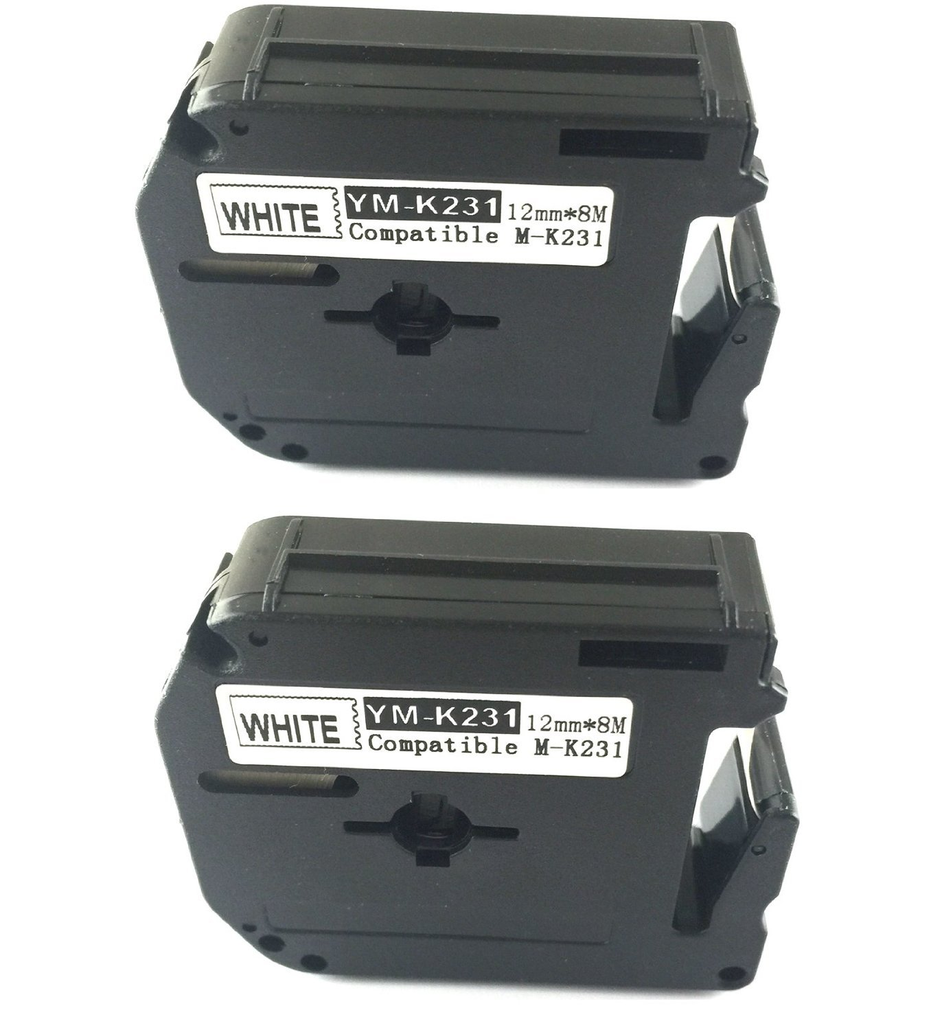 2PK compatible for Brother P-touch Label Tape Black on White M231 M-K231 MK231 PT70 PT80 PT100, PT110 ACD.auto