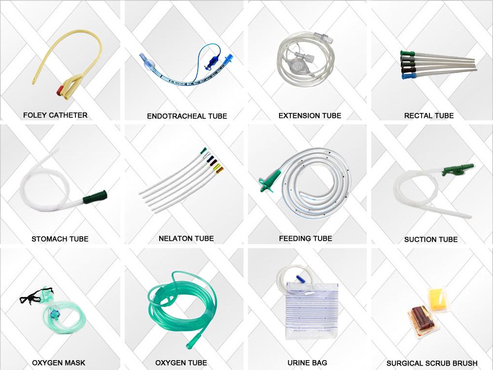 Wegwerp Urine Katheter Voor Medisch Gebruik, 2 Way & 3 Manier Latex Siliconen Foley Katheter
