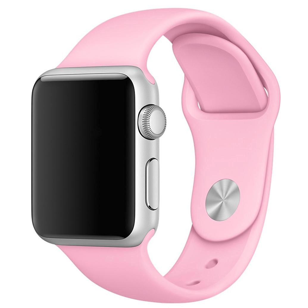 For Apple Watch Band , HP95(TM) Soft Silicone Replacement Sport Band for all Apple Watch Models (42mm, Pink)