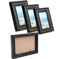 High End Custom Black Design Solid Wood Photo Frame