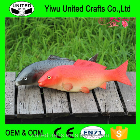 Hot sale realistic soft pu fish toys for kids and decor