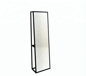 Black Metal Frame Full length Design floor Mirror