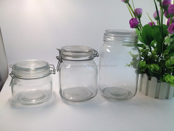 wholesale weck jars for food storage 500ml square glass jar with clip lid