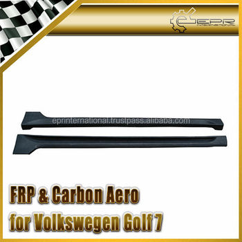 For Volkswagen Golf 7 REVO Style Type Carbon Fiber Side Skirt
