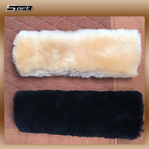 Sheepskin long wool Car Truck Seat Belt Shoulder Pads