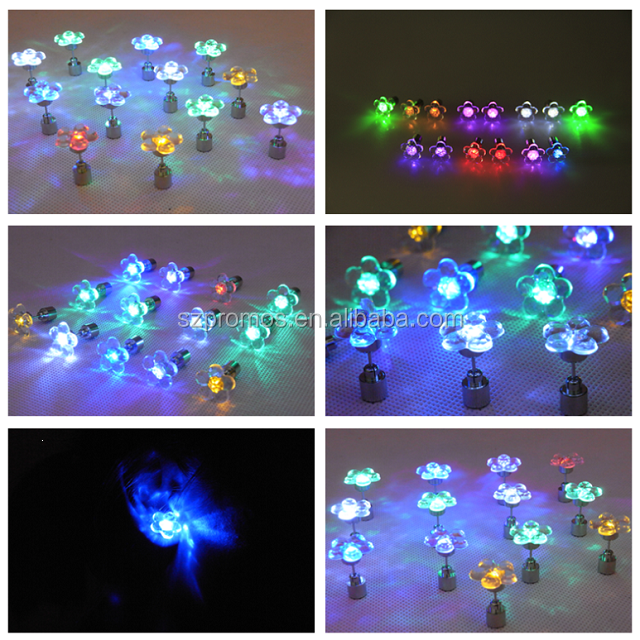 2016 wholesale colors the club must taking LED earring for unisex