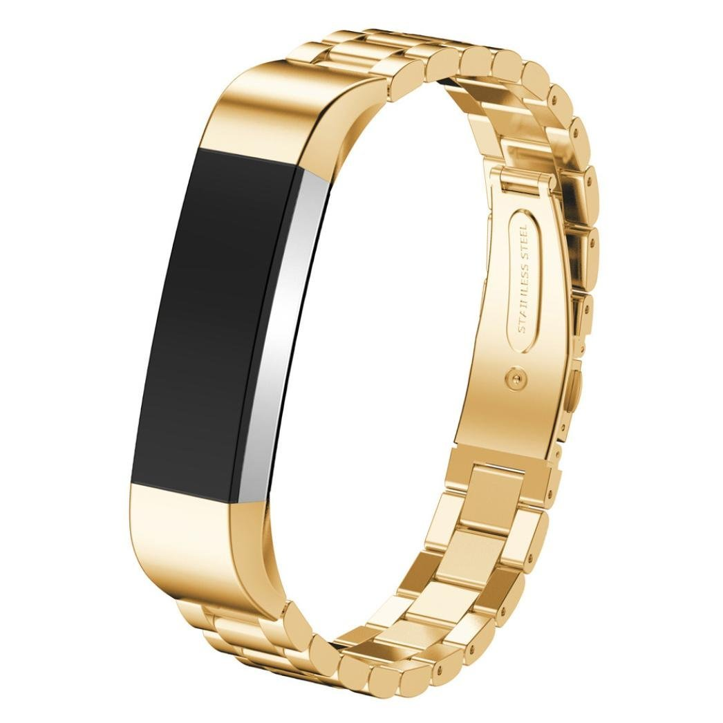 For Fitbit Alta Smart Watch Accessories Band,Elevin(TM) Stainless Steel Watch Band Wrist strap for Fitbit Alta Smart Watch (Gold)