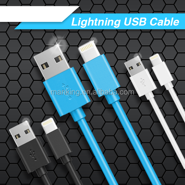 original Mfi Certified 1m Usb Cable 8pin Colorful Usb For Apple Charge& Sync Data For Iphone 6/ 5s/ 5