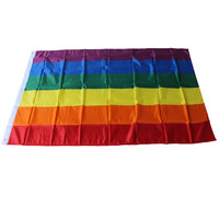 Alibaba China Wholesale polyester pride rainbow color gay flag cheap custom made flags