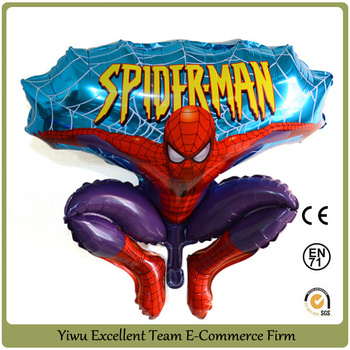 foil balloon spiderman balloon