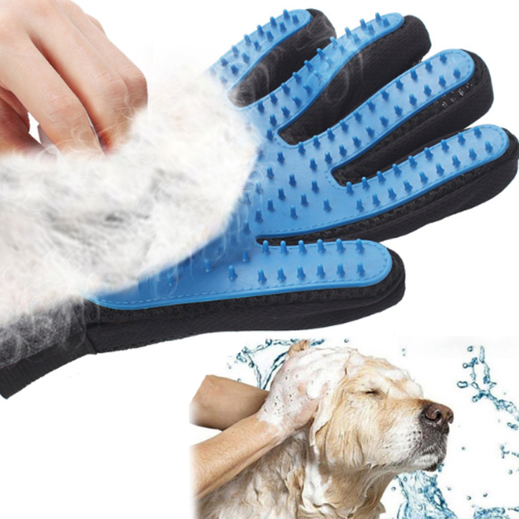 2020 Top Quality China Factory Comfortable Pet Massage Hair Glove Brush, Pet Dog Grooming Glove Brush