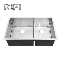 CUPC approval small kitchen and 304 stainless steel double big bowl undermount sink