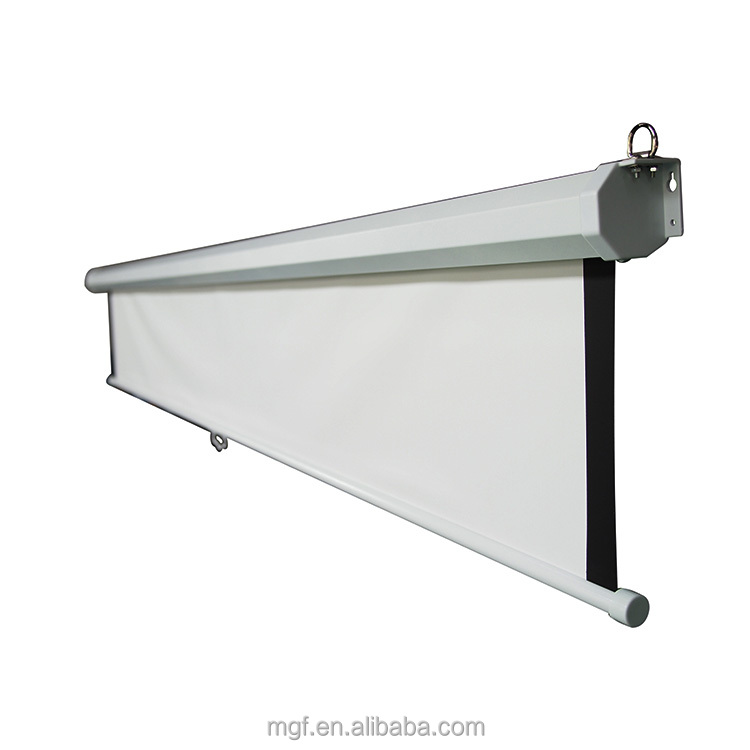 OEM manual projection screen pull down projector 16:10