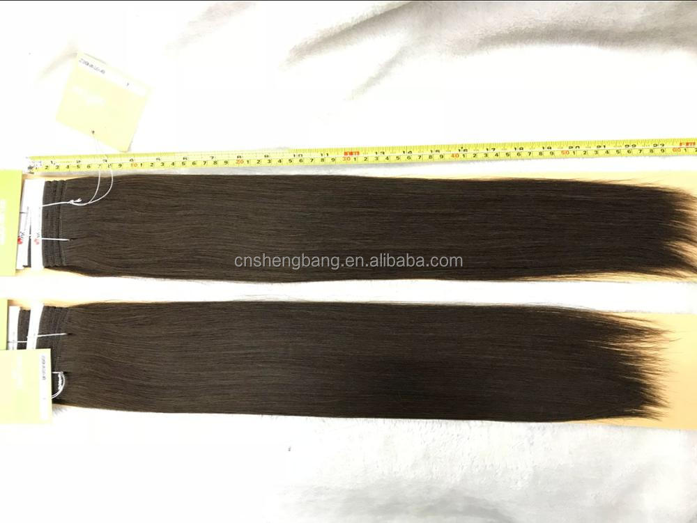 "In stock 100% Hair Weave Double Drawn Hair Club SINA 20"", 22"" brown color 4# 9a russian hair double drawn"