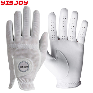 Factory supplies men women washable flexible mesh golf leather gloves for golf