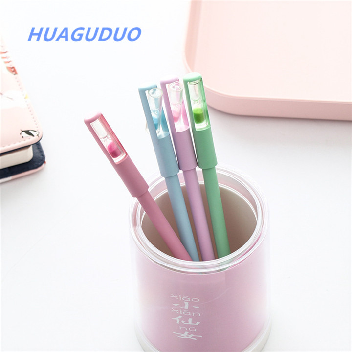 Office & School Supplies Energetic New Creative Color Liquid Hourglass Ballpoint Pen Lovely Magic Crystal Sand Pen Plastic For Girl Student Gift School Stationery Cheapest Price From Our Site