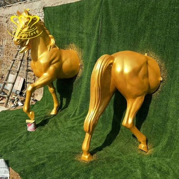 Modern crafts New product fiberglass life size horse statue for garden home decor