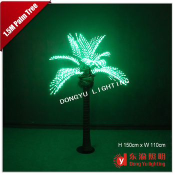 Artificial Led Coconut Tree Light Lamp For Outdoor Park Decoration Palm