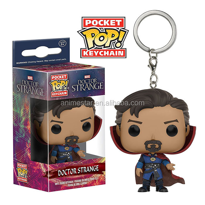 Funko POP Doctor Stange Figure Pendant Keyring Cartoon Toy Anime Keychain