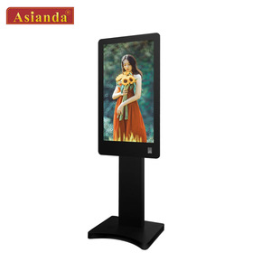 Floor stand indoor vertical double sided portable standalone lcd interactive kiosk digital signage
