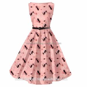 ab2bf5822d00c Women Elegant Houndstooth Retro Vintage 1950s 60s Rockabilly Swing Summer  Dresses