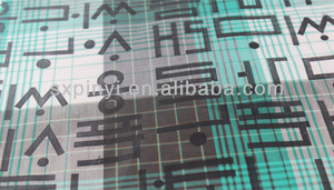 Korean text printing quadrille T/C fabric for shirt Hang down feeling is very good.