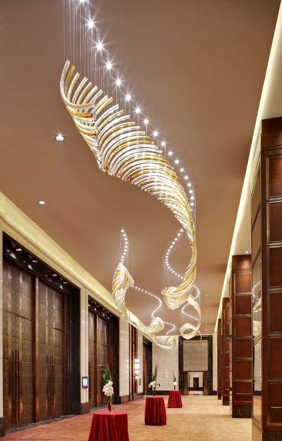 Large luxury hotel lobby crystal chandelier glass light parts for project lamp