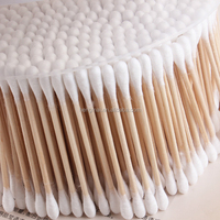 Ear Cleaning Stick Cotton Bud Wooden Stick Cotton Bud Swab for Beauty Makeup Cosmetic