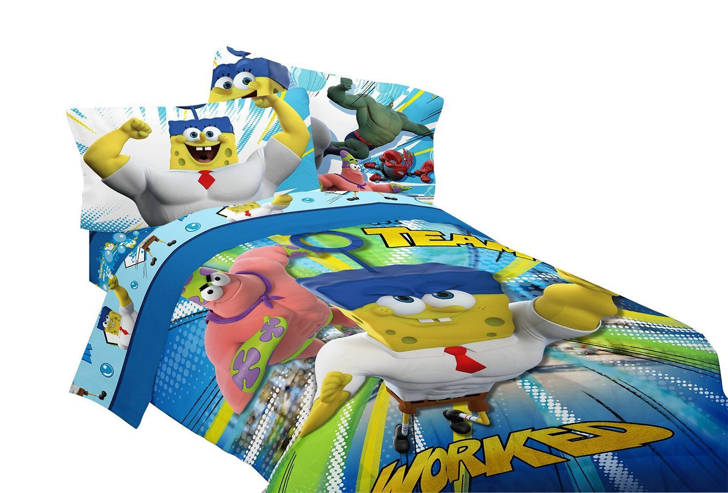 Nickelodeon Sponge Bob Mr Awesome Twin/Full Reversible Comforter, 72 by 86-Inch