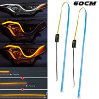 New design car led drl with turn signal 30cm 45cm 60cm