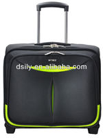 durable polyester designed stylish business laptop trolley case rolling case