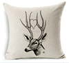 2015 China factory supplies alibaba selling well 100% cotton fashion deer Customer Design Digital Print Throw Pillow