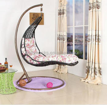 Beau Rattan Hanging Chair/garden Swing Chairs /indoor Swing Chair With Stand