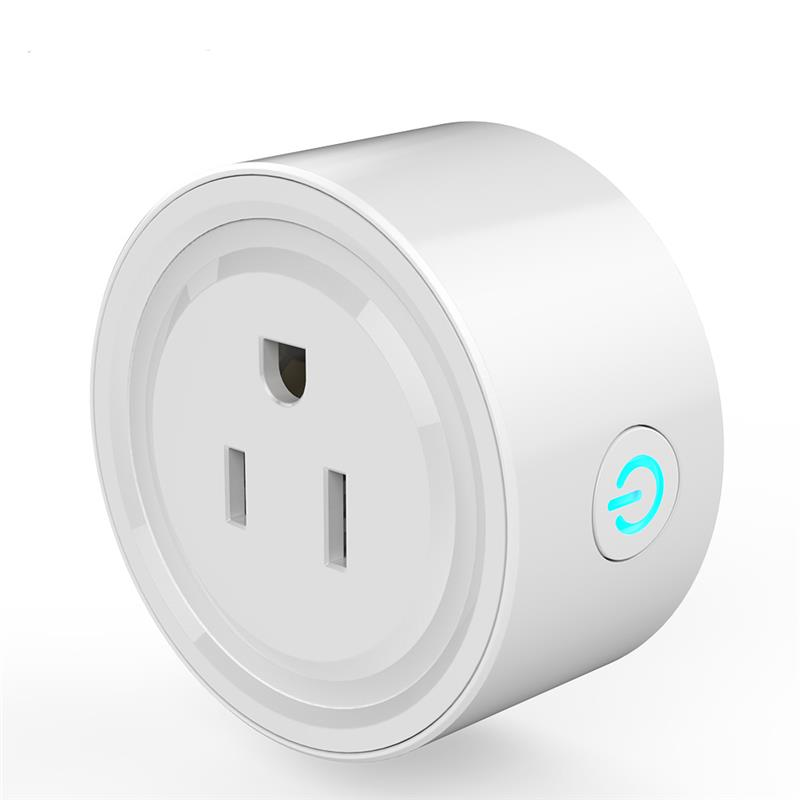 No Hub Required, White Mini Smart Socket, WiFi Mini Outlet Smart Switch Compatible with Alexa & Google home