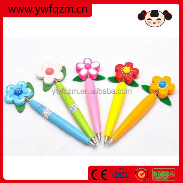 promotion 3D wooden cartoon ball pen