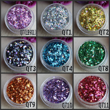 Fashion Unique Mixture QT Glitter For Face Paint Nail Decoration